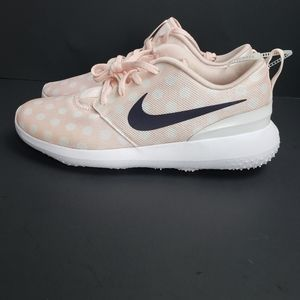 Nike Polka dot light pink Roshe golf shoes new